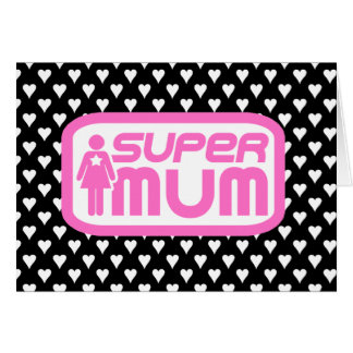 SUPERMOM WITH LOVE MOTHER'S DAY CARD