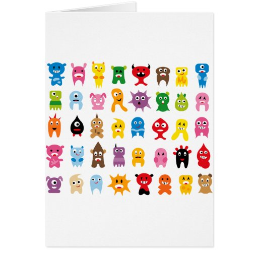 SuperMonstersAll Greeting Card