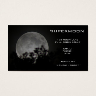 Supermoon 2014 Full Moon Night Sky Business Card