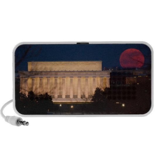 Supermoon at Lincoln Memorial Speaker