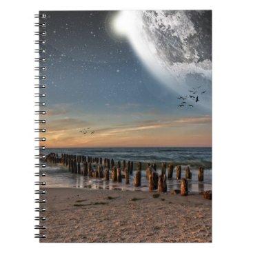 Beach Themed Supermoon Beach Notebook