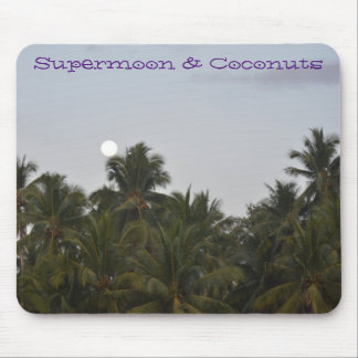 Supermoon & Coconuts Mouse Pad Oriental view