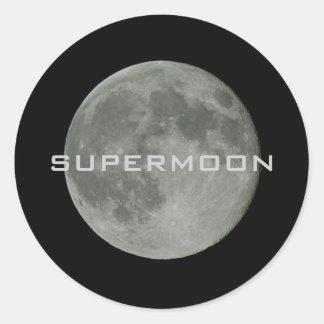 Supermoon Full Moon Night Sky Classic Round Sticker