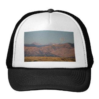 Supermoon Over Colorado Rocky Mountains Hats