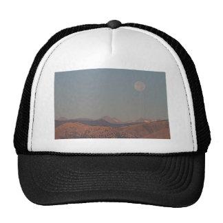 Supermoon Over Colorado Rocky Mountains Indian Pea Mesh Hats