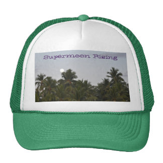 Supermoon Rising Truckers Hat Green