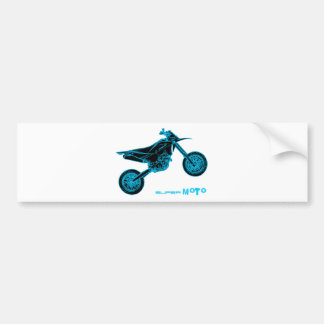 SuperMoto Wheelie Bumper Sticker