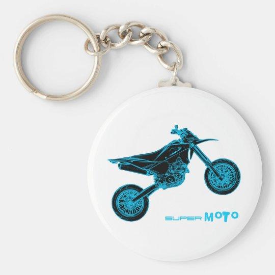 SuperMoto Wheelie Keychain