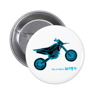 SuperMoto Wheelie Pinback Button
