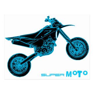 SuperMoto Wheelie Postcard