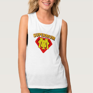 SuperMum Womens Top  Mothers Day Or Birthday Flowy Muscle Tank Top