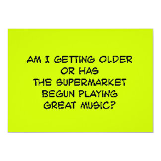 supermusic 5x7 paper invitation card