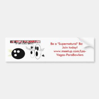 Supernatural Bowler Bumper Sticker Car Bumper Sticker