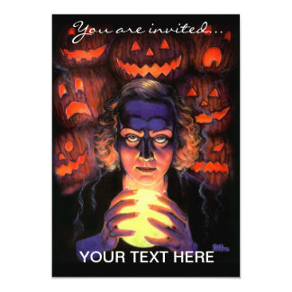 Supernatural Halloween Fortuneteller Witch 5x7 Paper Invitation Card