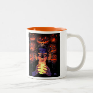 Supernatural Halloween Fortuneteller Witch Two-Tone Coffee Mug