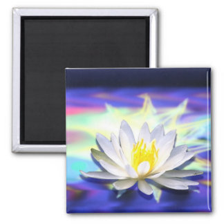 Supernatural Lotus 2 Inch Square Magnet