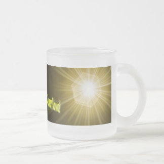 SuperNova 10 Oz Frosted Glass Coffee Mug