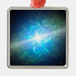 Supernova Adorno Navideño Cuadrado De Metal