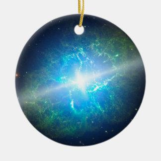 Supernova Adorno Navideño Redondo De Cerámica