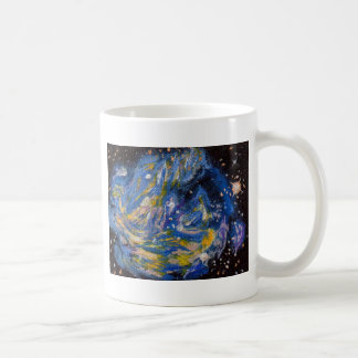 Supernova blue coffee mug