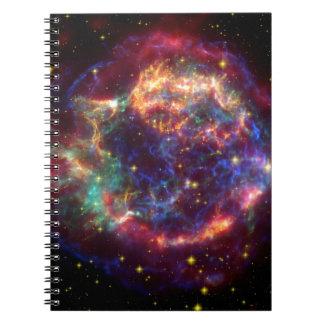 Supernova de NASAs Cassiopeaia Libreta Espiral