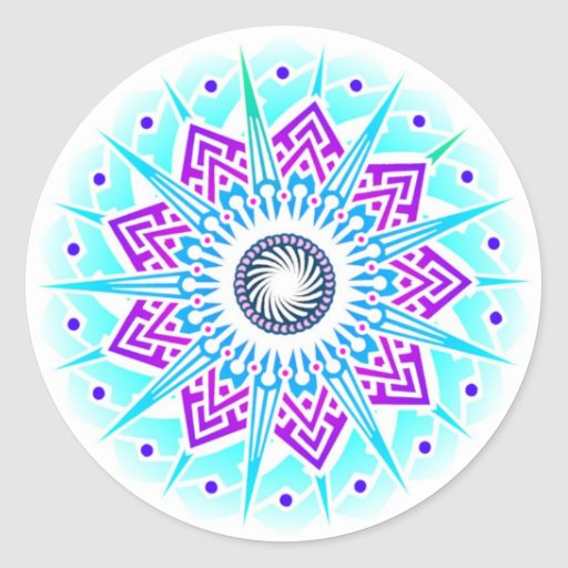 Supernova Flower Air Sticker
