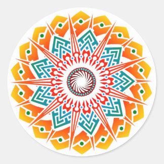 Supernova Flower Fire Sticker