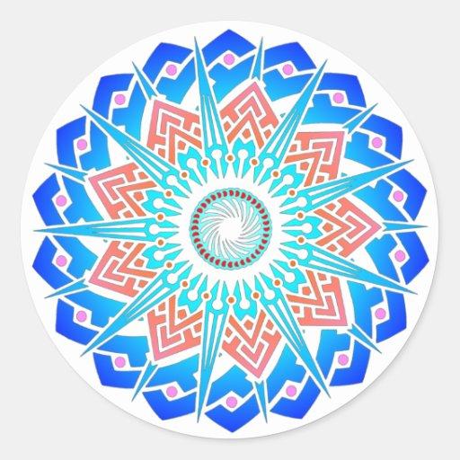 Supernova Flower Water Sticker