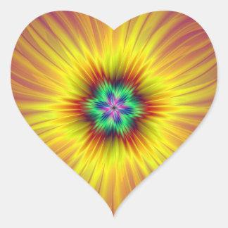 Supernova Heart Sticker
