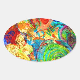 Supernova Oval Sticker