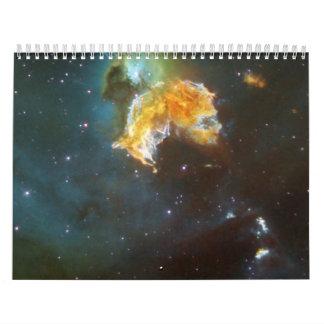 Supernova Remnant N 63A Menagerie Wall Calendar