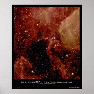Supernova SN1987A en la nube de Magellanic grande Póster