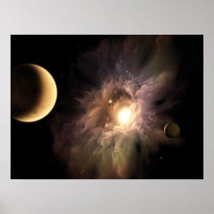 Supernova Sun Print