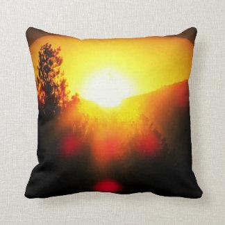 Supernova sunset throw pillow
