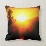 Supernova sunset throw pillows