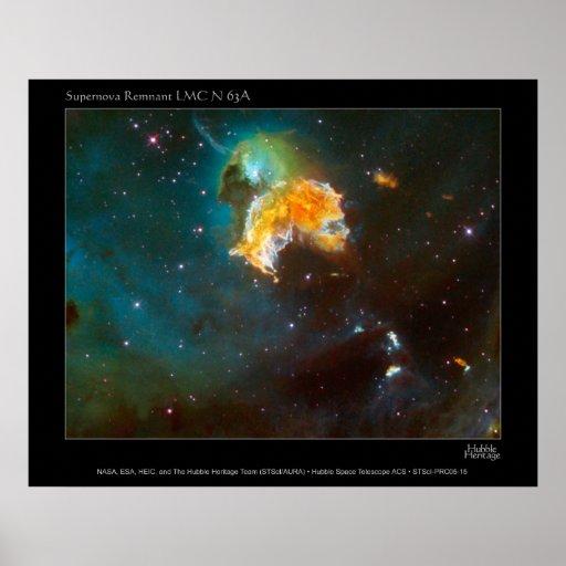 SupernovaRemnant-LMC-N63A-2005-15 Poster
