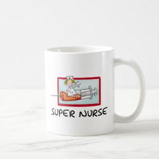 supernurse - enfermera chistosa del dibujo animado taza de café