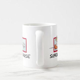 supernurse - Humorous Gift - Nurse on Syringe. Classic White Coffee Mug