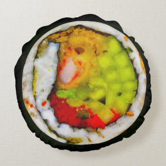 Superoll Sushi Pillow Round Pillow