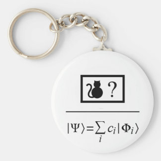 Superposición de Quantum Llavero Redondo Tipo Pin