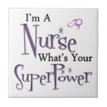 Superpotencia de la enfermera azulejo cerámica