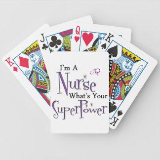 Superpotencia de la enfermera baraja de cartas bicycle