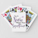 Superpotencia de la enfermera cartas de juego