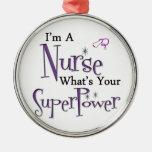 Superpotencia de la enfermera ornamento para reyes magos