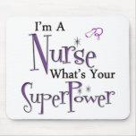 Superpotencia de la enfermera mouse pads