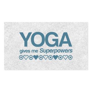Superpotencias de la yoga tarjetas de visita