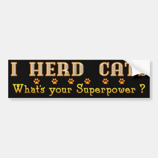 Superpower Cat Bumper Sticker