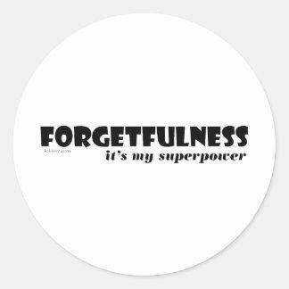 Superpower: Forgetfulness! Sticker