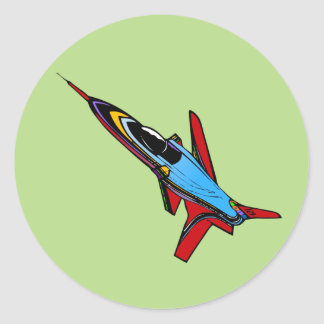 Supersonic Airforce Jet-Fighter Design for Pilots Round Sticker