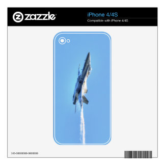 Supersonic Airforce Jet-Fighter Designer Skin Decals For iPhone 4S